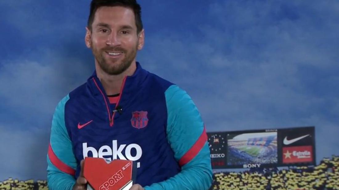 Messi premio valores deportes